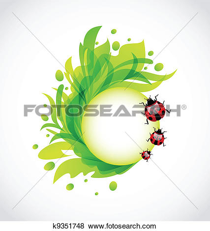Search clipart transparent background vector freeuse download Clip Art of Eco floral transparent background with ladybugs ... vector freeuse download