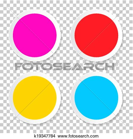 Search clipart transparent background vector library download Clipart of Colorful Vector Empty Circle Stickers - Labels Set on ... vector library download