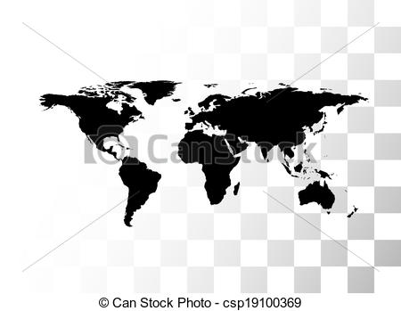 Search clipart transparent background vector royalty free Clip Art Vector of Vector black world map, with transparent ... vector royalty free