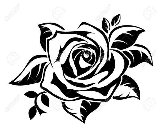 Search cliparts stock images svg black and white stock Rose Cliparts, Stock Vector And Royalty Free Rose Illustrations ... svg black and white stock