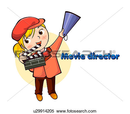 Search cliparts stock images picture freeuse download Stock Illustration of Movie Director u29914205 - Search Clipart ... picture freeuse download
