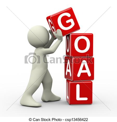 Search cliparts stock images clipart Clip Art of 3d man placing goal cubes - 3d render of person ... clipart