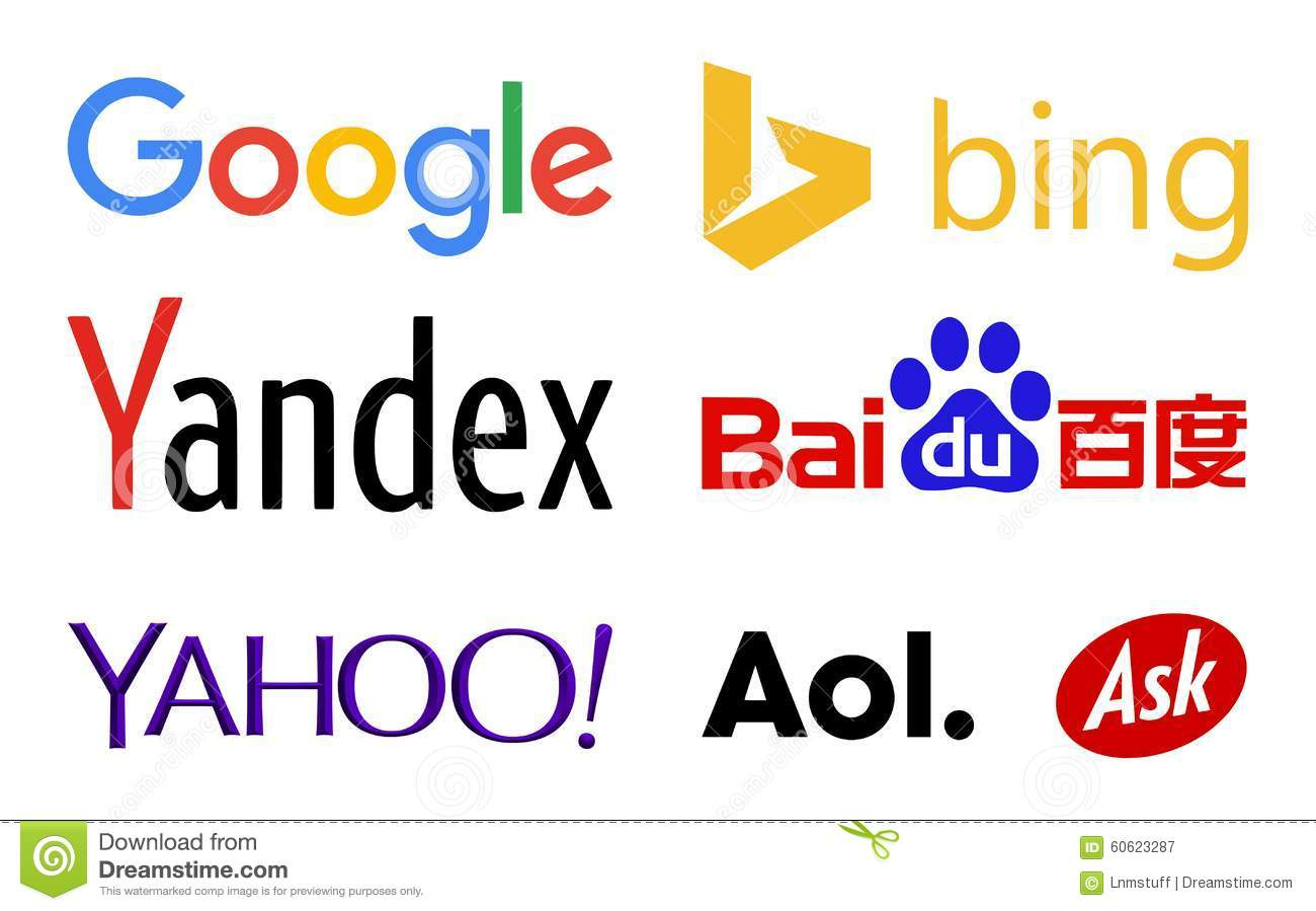 Search engines clipart clip free Web Search Engines Logos Editorial Photography - Image: 60623287 clip free