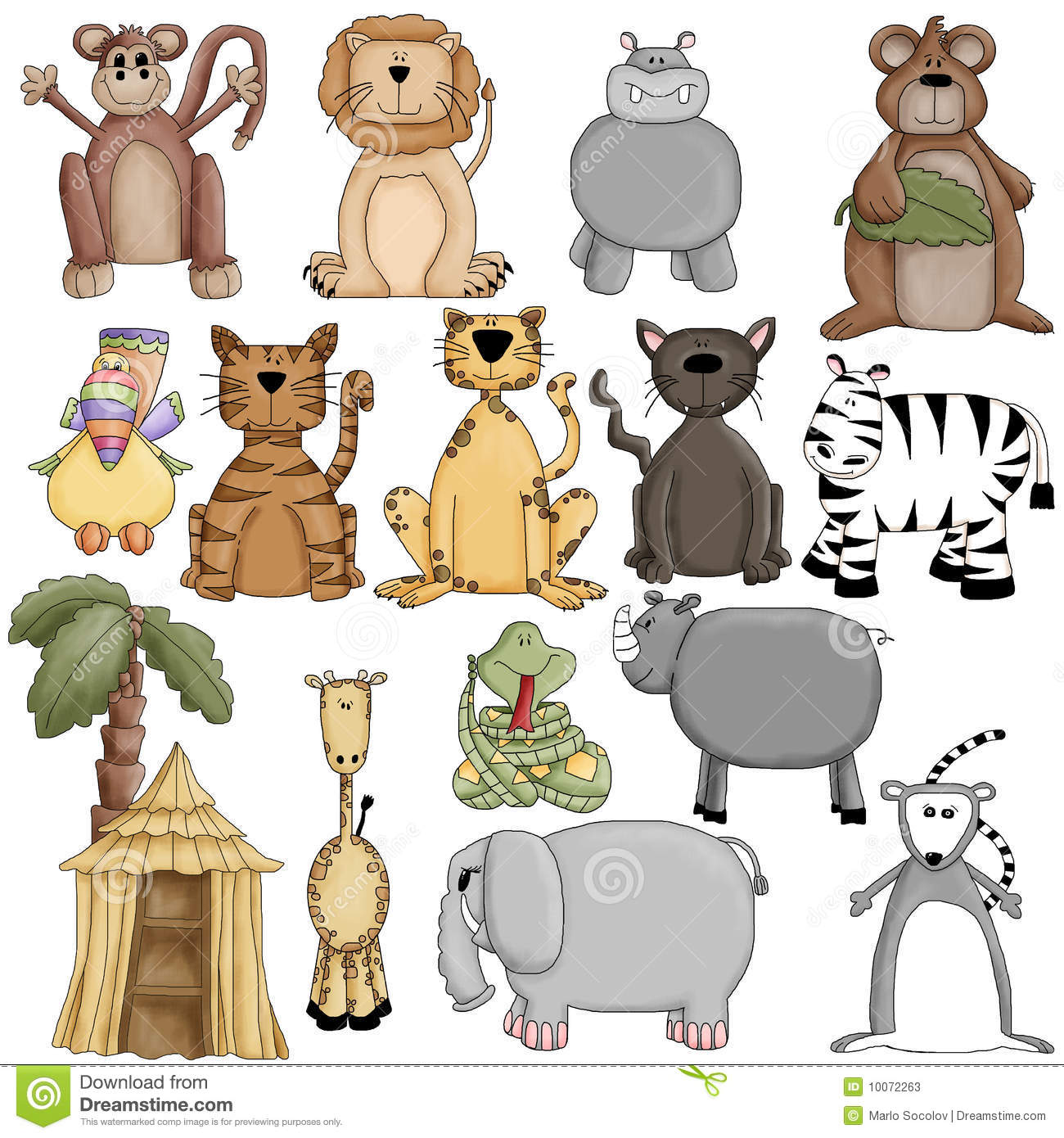 Search for similar clipart clip black and white stock Cute Zoo Animals Clipart - Clipart Kid clip black and white stock