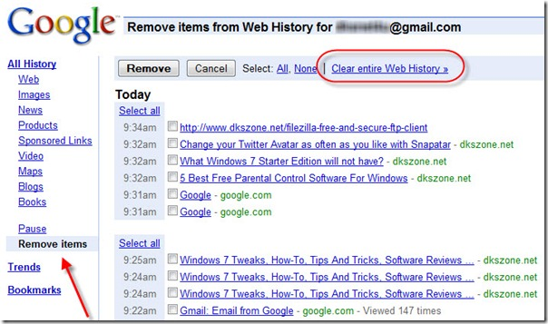 Search history image transparent How To Delete/Clear Google History image transparent