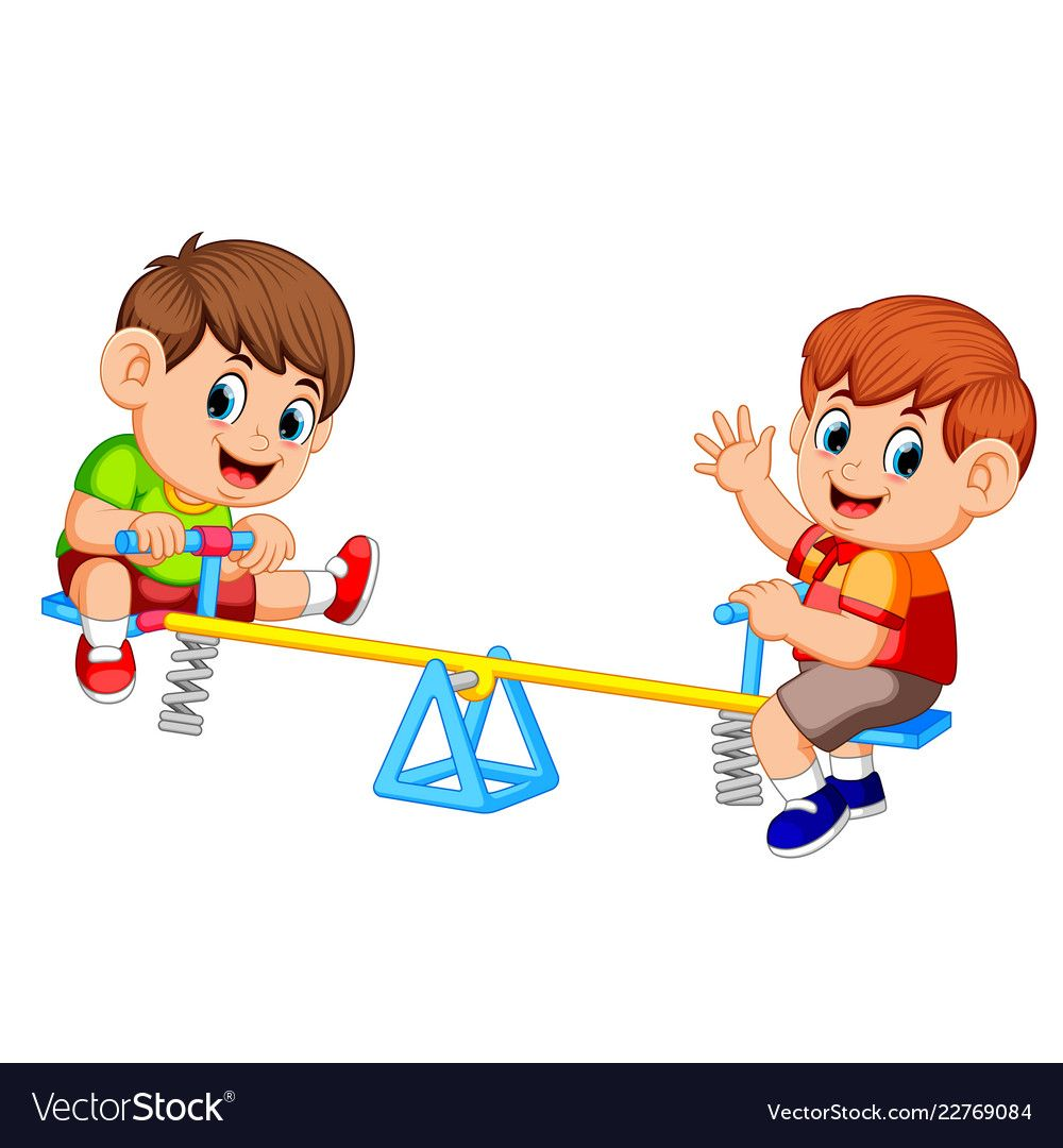 Boys seesaw clipart png royalty free Pin by Lili on clipart3 | Boys playing, Cartoon kids ... png royalty free