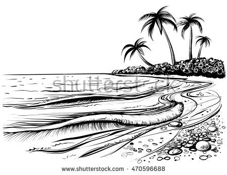 Seashore clipart black and white png royalty free library Seashore clipart black and white 1 » Clipart Portal png royalty free library
