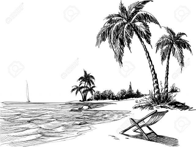 Seashore clipart black and white svg library Free Seashore Clipart, Download Free Clip Art on Owips.com svg library