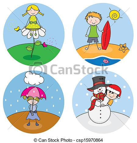 Season clipart stock 4 Seasons Clipart - Clipart Kid stock
