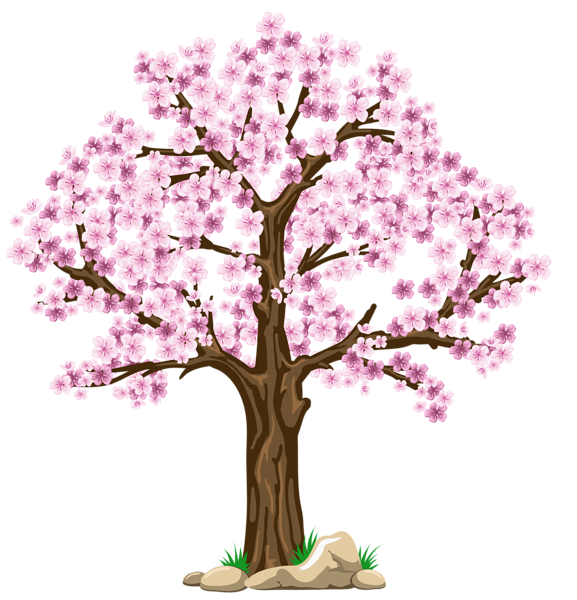 Season tree clipart graphic library library Transparent Pink Tree PNG Clipart Picture | Planner | Pinterest ... graphic library library