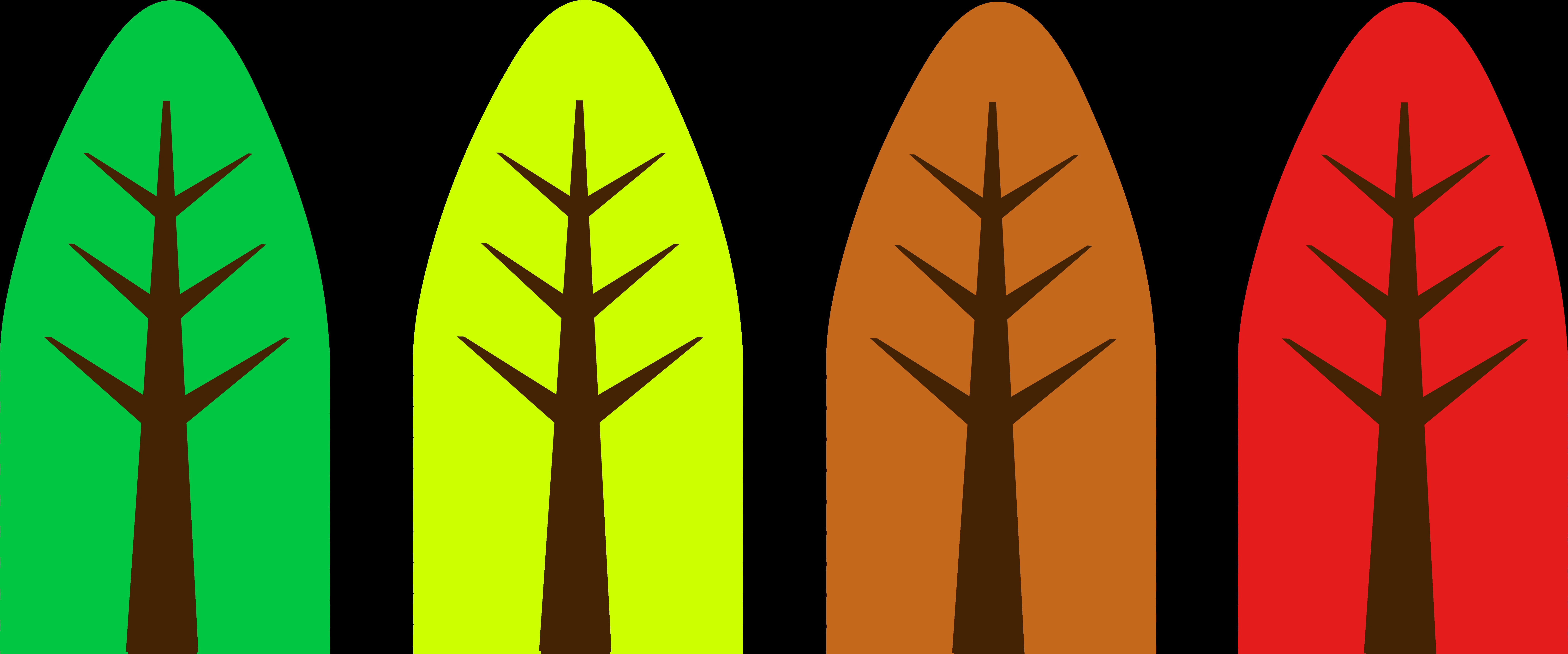 Season tree clipart transparent download Cute Simple Tree Designs - Free Clip Art transparent download