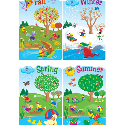 Seasons board game clipart picture black and white download Four+Seasons+Bulletin+Board+for+Preschool | Kindergarten ... picture black and white download