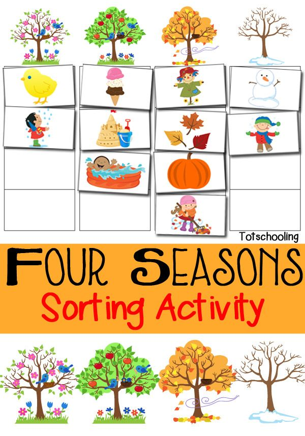 Seasons board game clipart png black and white download Four Seasons Sorting Activity Free Printable | Creative ... png black and white download