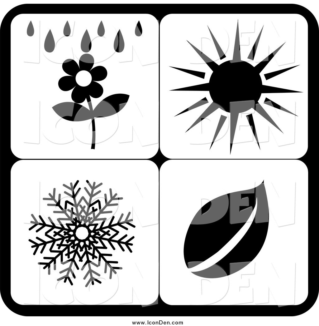 Seasons clipart black and white banner black and white library Seasons clipart black and white 2 » Clipart Portal banner black and white library