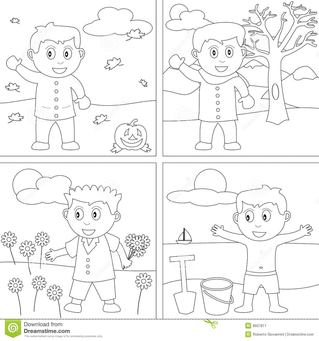Seasons clipart black and white black and white Seasons clipart black and white 5 » Clipart Station black and white