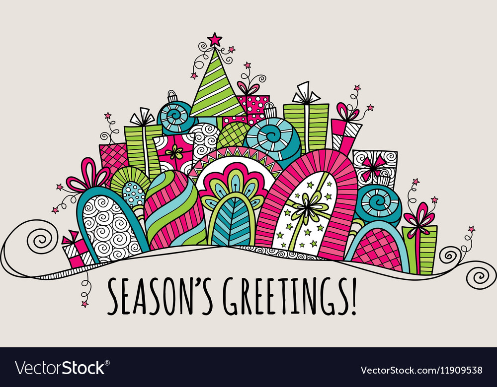 Seasons greetings banners clipart svg transparent download Seasons Greetings Christmas Banner Doodle svg transparent download