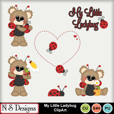 Seasons of love clipart clip black and white download Clip Art | My Little Ladybug ClipArt-(NSD) | Animals - Pets ... clip black and white download