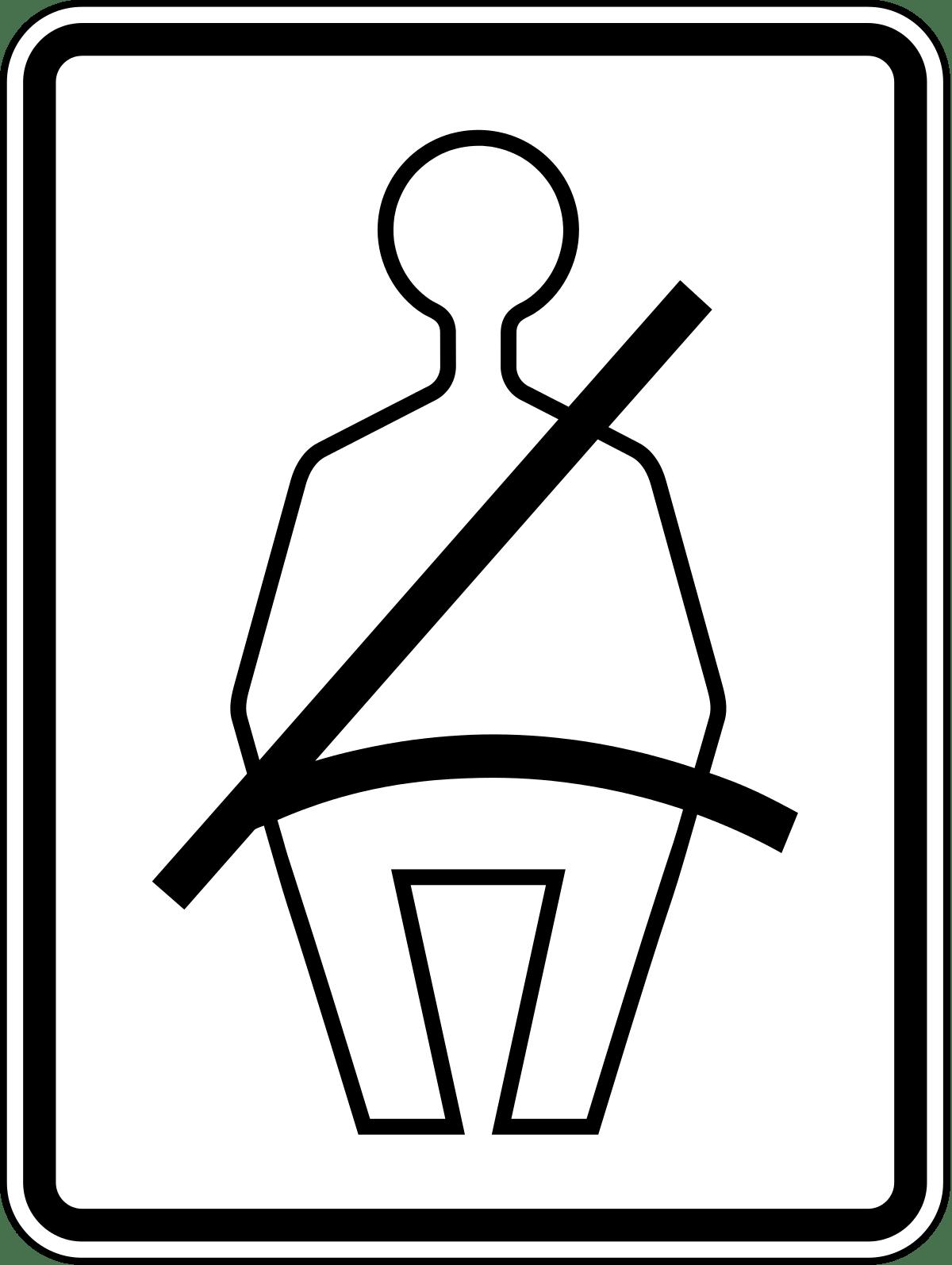 Seat belts clipart svg Seat Belt Rectangular Sign transparent PNG - StickPNG svg