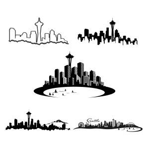Seattle ferry clipart svg download Pin by CuttableDesigns on Cities and States   Seattle ... svg download