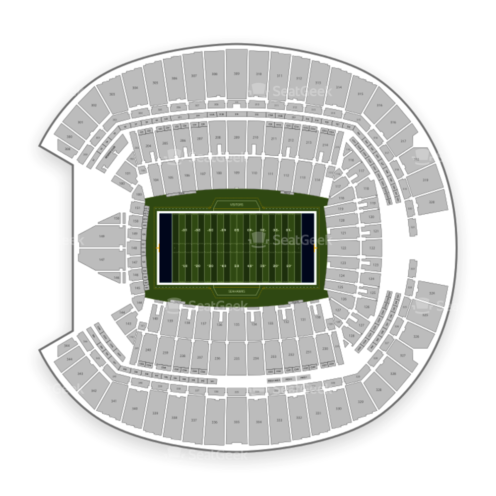 Seattle football field clipart clipart transparent Seattle Seahawks Seating Chart & Map | SeatGeek clipart transparent