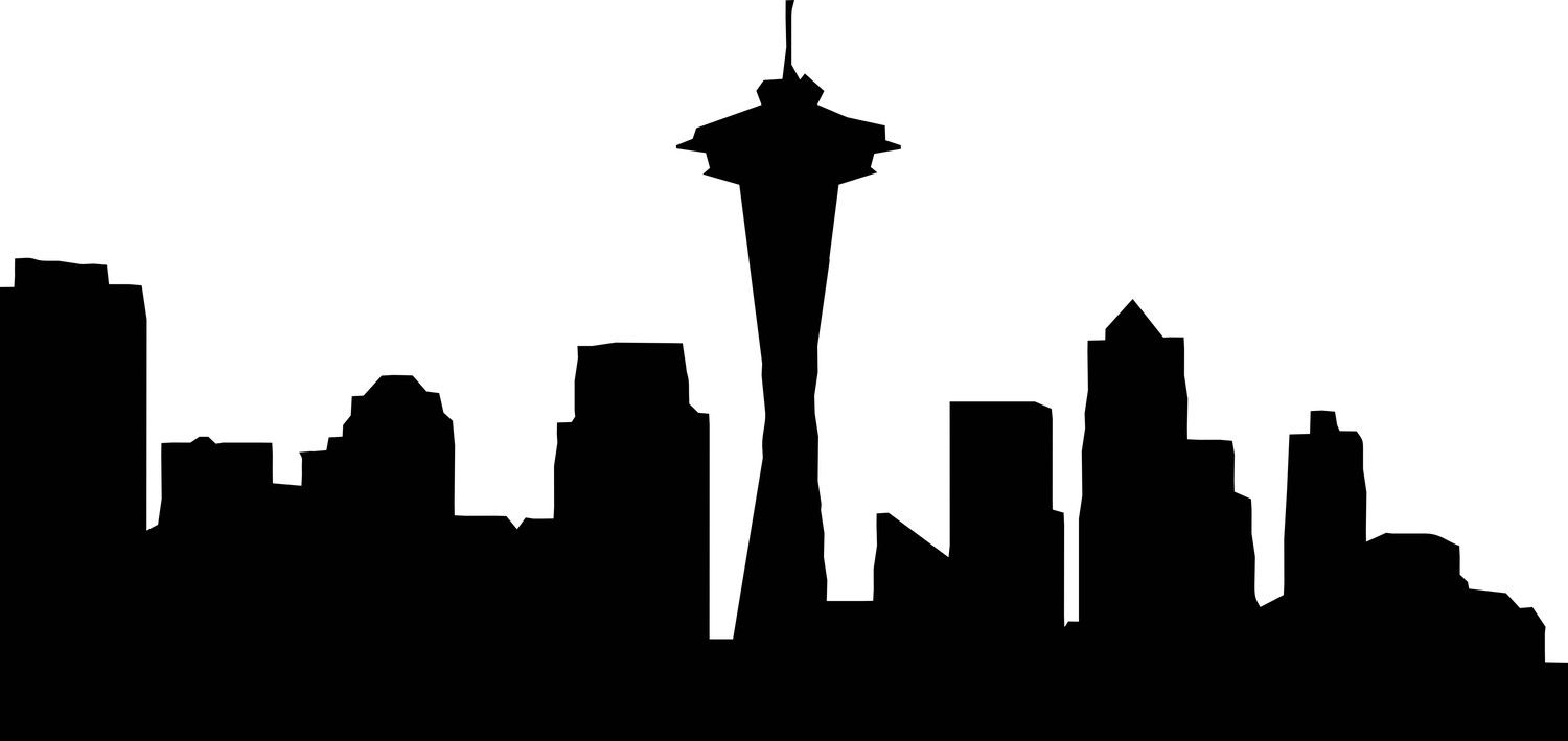 Seattles clipart image black and white download Seattle Skyline Outline - ClipArt Best - ClipArt Best ... image black and white download