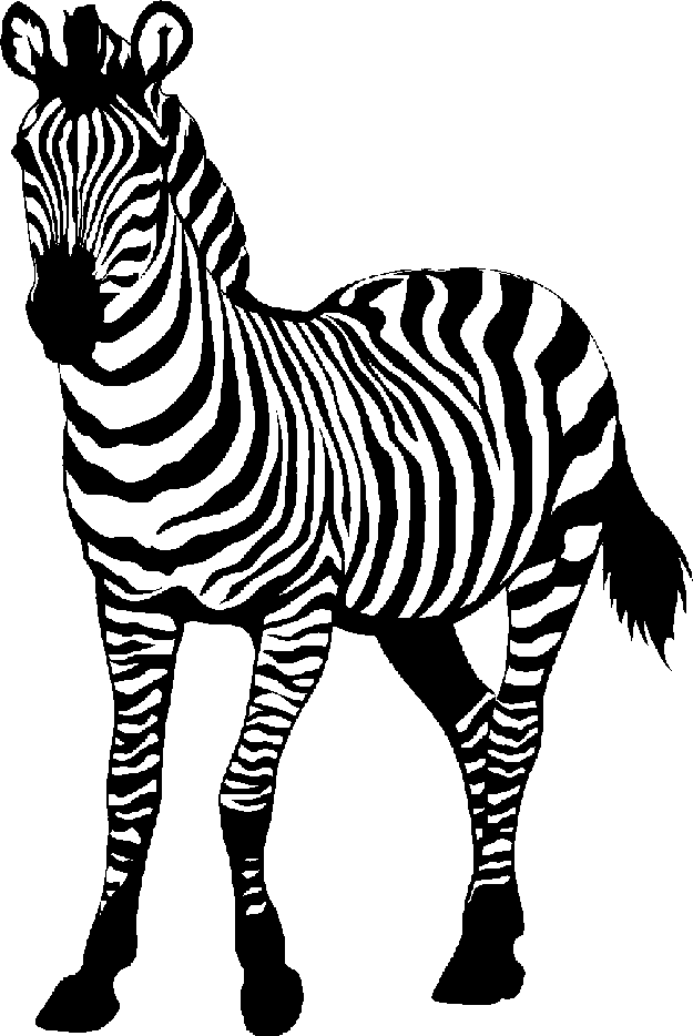 Zebra png clipart image transparent stock Zebra clip art black and white free clipart images - WikiClipArt image transparent stock