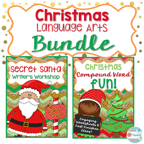 Secret santa word clipart image free library Christmas Language Arts Bundle. Secret Santa Writing & Christmas Compound  Words. image free library