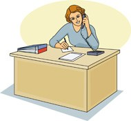 Secretary at desk clipart clip art freeuse library Secretary at Desk » Clipart Portal clip art freeuse library