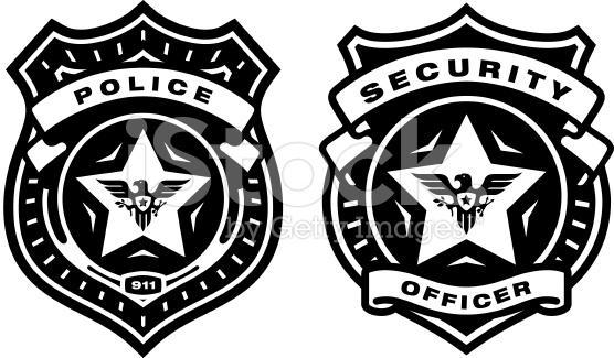 Security badge clipart vector show id signs photo id required signs. security guard badge ... vector