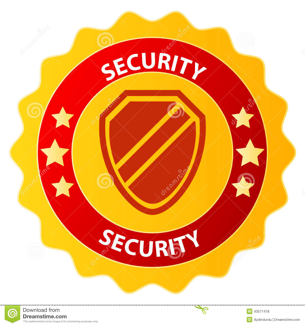 Security badge clipart clip art black and white stock Security Badge Stock Vector - Image: 43571418 clip art black and white stock