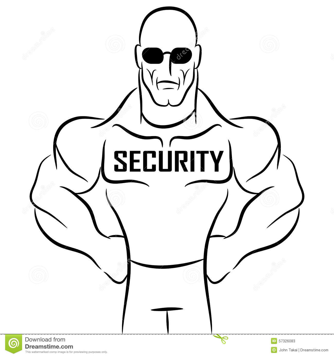 Security guard clipart png black and white download Cartoon Security Guard Clipart Stock Illustration - Image: 52777895 png black and white download