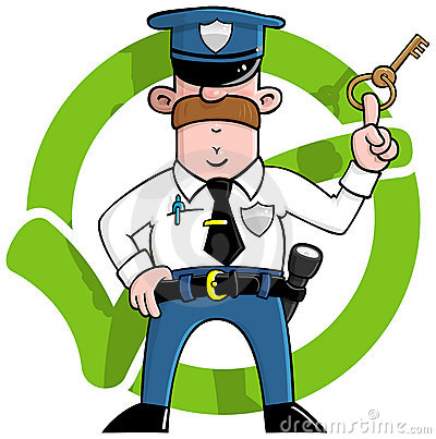Security guard clipart picture black and white library Cartoon Security Guard Stock Illustrations – 2,434 Cartoon ... picture black and white library