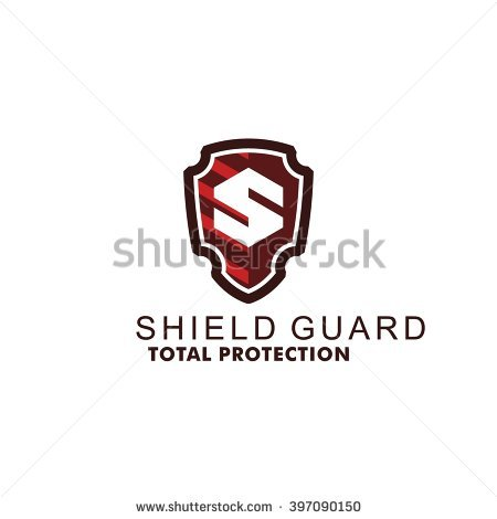 Security letters logo clipart vector freeuse download Shield Protect Deal Handshake Logo Design Stock Vector 383326792 ... vector freeuse download