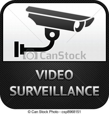 Security logo clipart sign svg freeuse stock Vector Clip Art of CCTV symbol, video surveillance, sign security ... svg freeuse stock