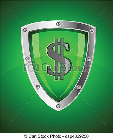 Security logo clipart sign png transparent library Vector Clipart of security shield as symbol of financial safety ... png transparent library