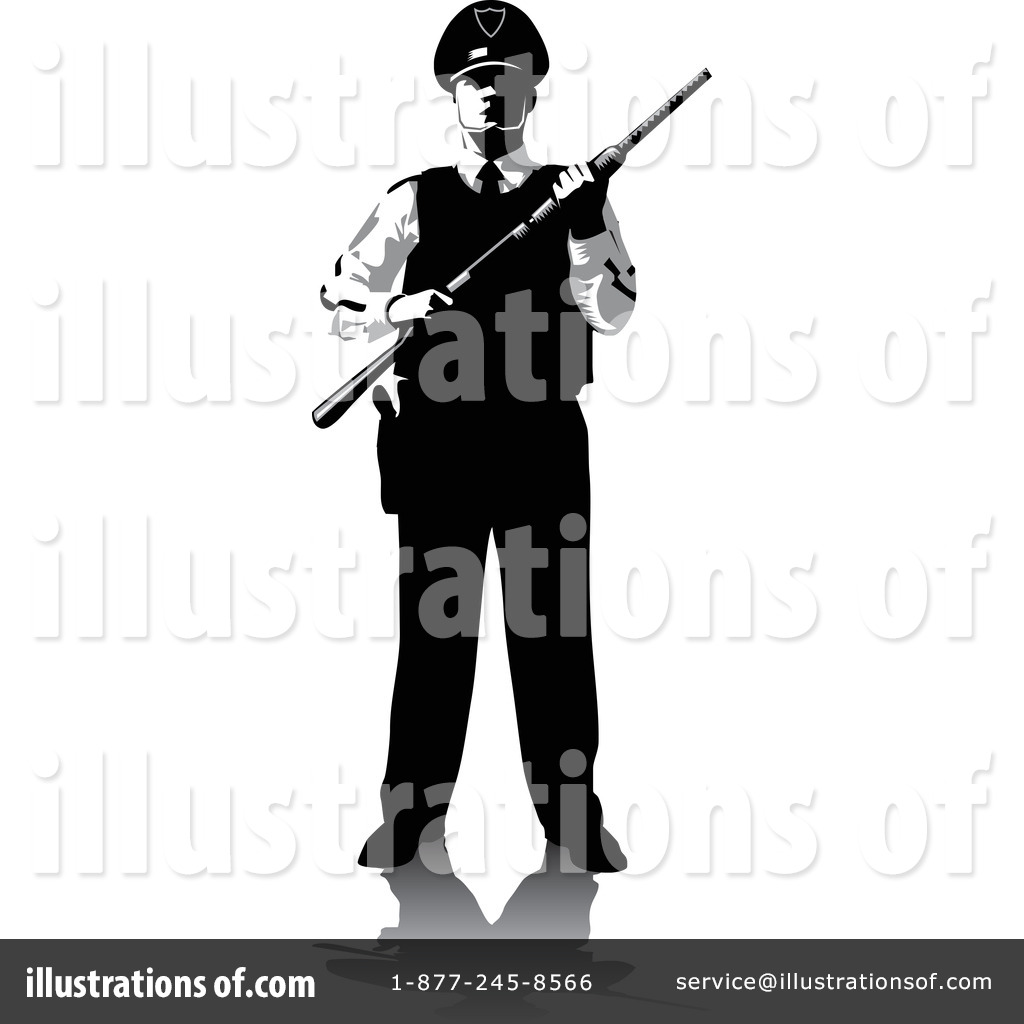 Security man clipart clip royalty free download Security Guard Clipart #1079098 - Illustration by David Rey clip royalty free download