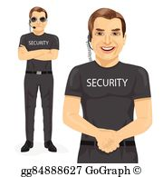 Security officer clipart svg black and white Security Guard Clip Art - Royalty Free - GoGraph svg black and white
