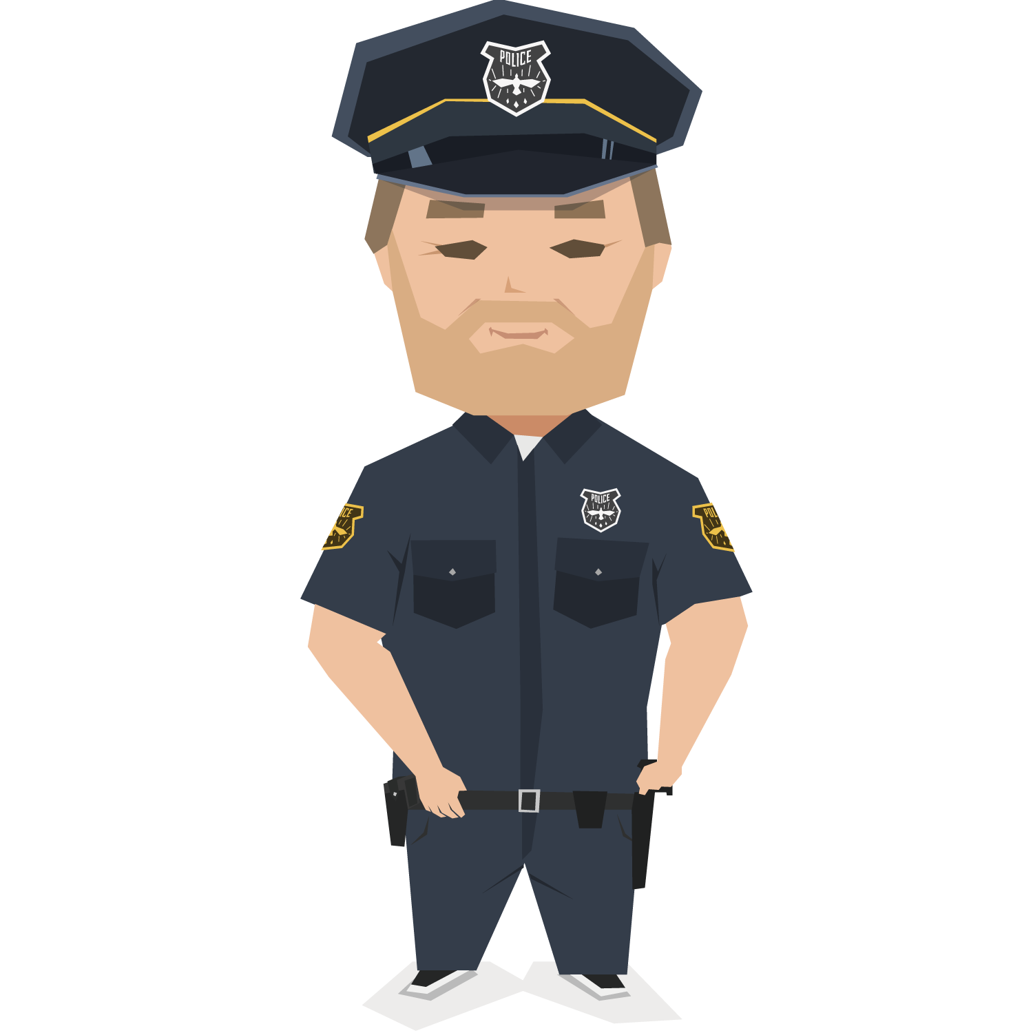 Security police clipart jpg library stock Police officer Uniform Security guard - Uniformed police ... jpg library stock