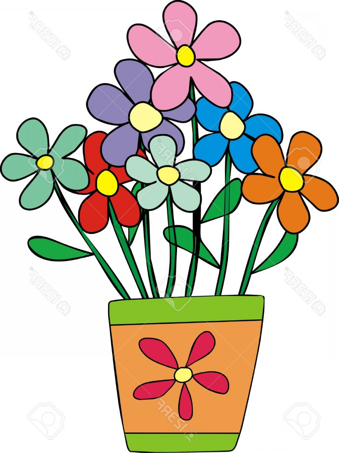 See more clipart vector royalty free Photostock Vector Flower Pot Painted A Child S Hand See More ... vector royalty free