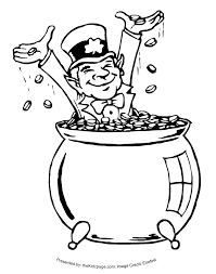 Seeing a leprechaun clipart black and white image library download Image result for pot of gold clipart black and white free ... image library download