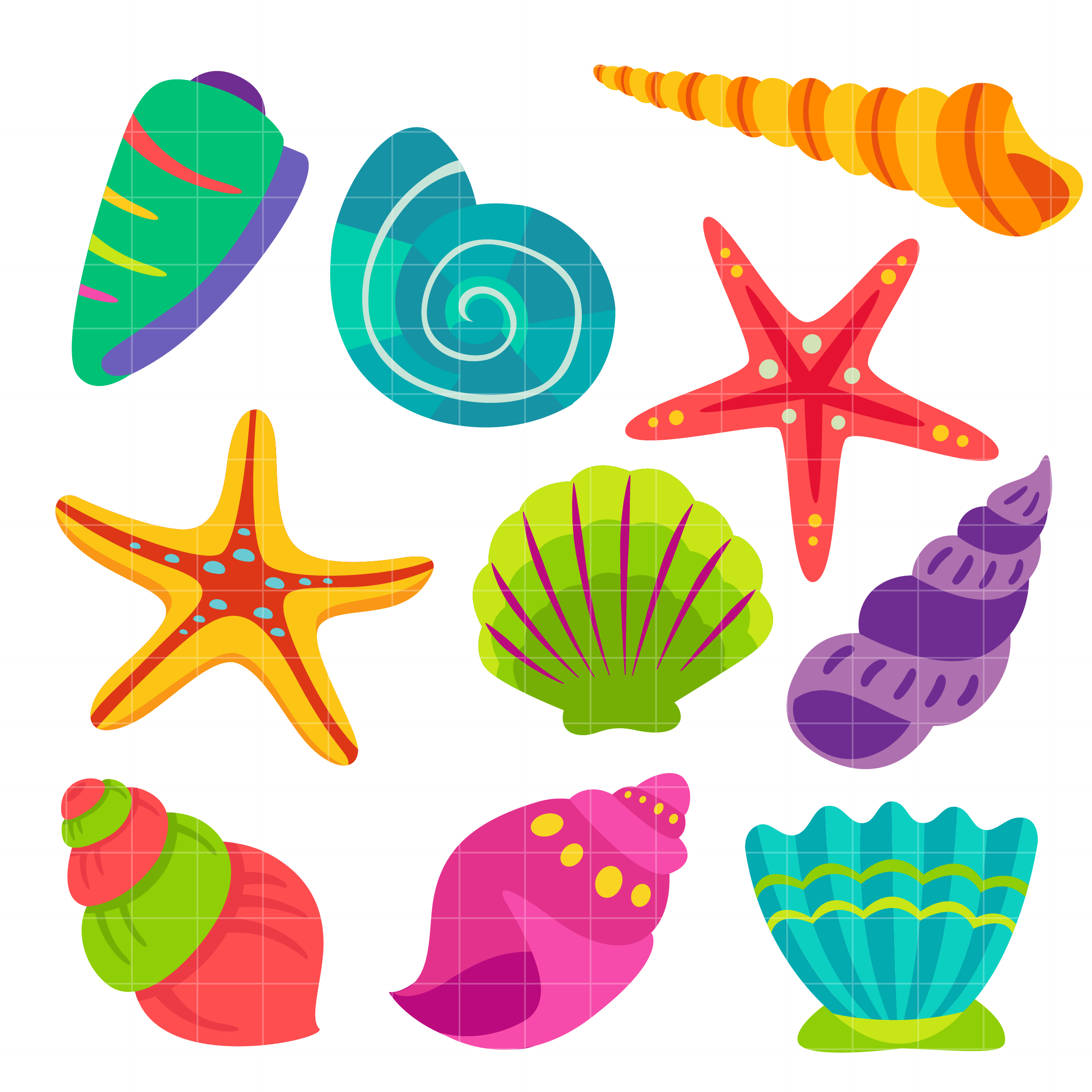 Seshell clipart royalty free download Sea Shells Clipart Free & Free Clip Art Images #33205 ... royalty free download