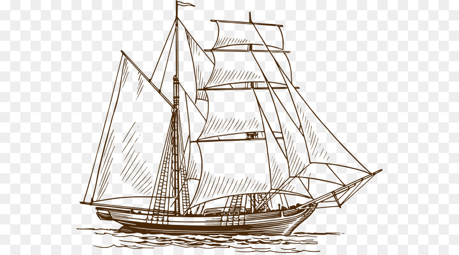 Segelschiff clipart picture black and white stock Zeichnung Boot Segelschiff Clip art - Segeln Abenteuer ... picture black and white stock