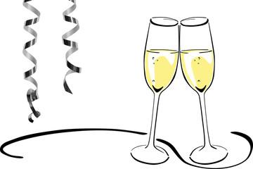 Sektglser anstoen clipart geburtstag svg stock Bilder und Videos suchen: champagnergläser svg stock