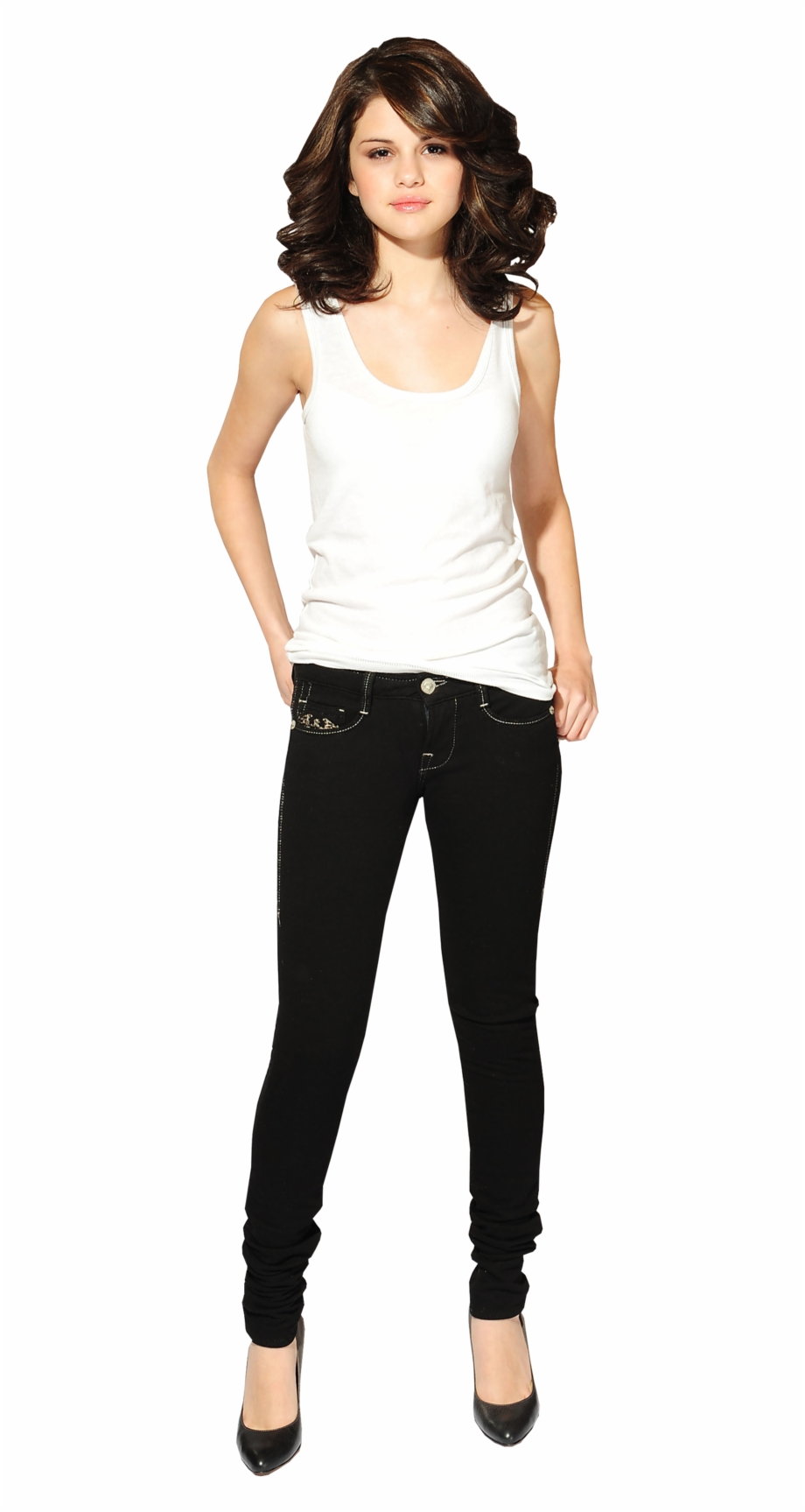 Selena gomez 2014 clipart banner freeuse Selena Gomez Full Body Png - Nipsey Hussle Tank Top Womens ... banner freeuse