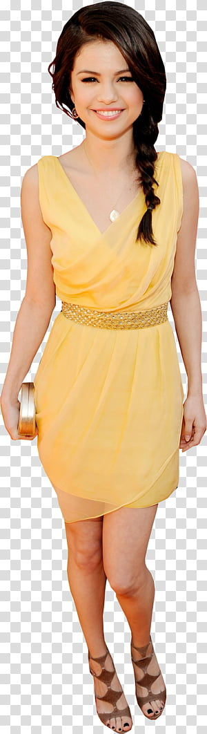 Selena gomez bikini clipart jpg Selena Gomez, woman in yellow bikini transparent background ... jpg