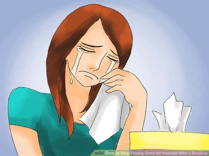 Self pity clipart clipart black and white stock How to Stop Feeling Sorry for Yourself After a Breakup: 15 Steps clipart black and white stock