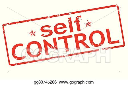 Self-control clipart graphic freeuse Vector Stock - Self control. Clipart Illustration gg80745286 ... graphic freeuse
