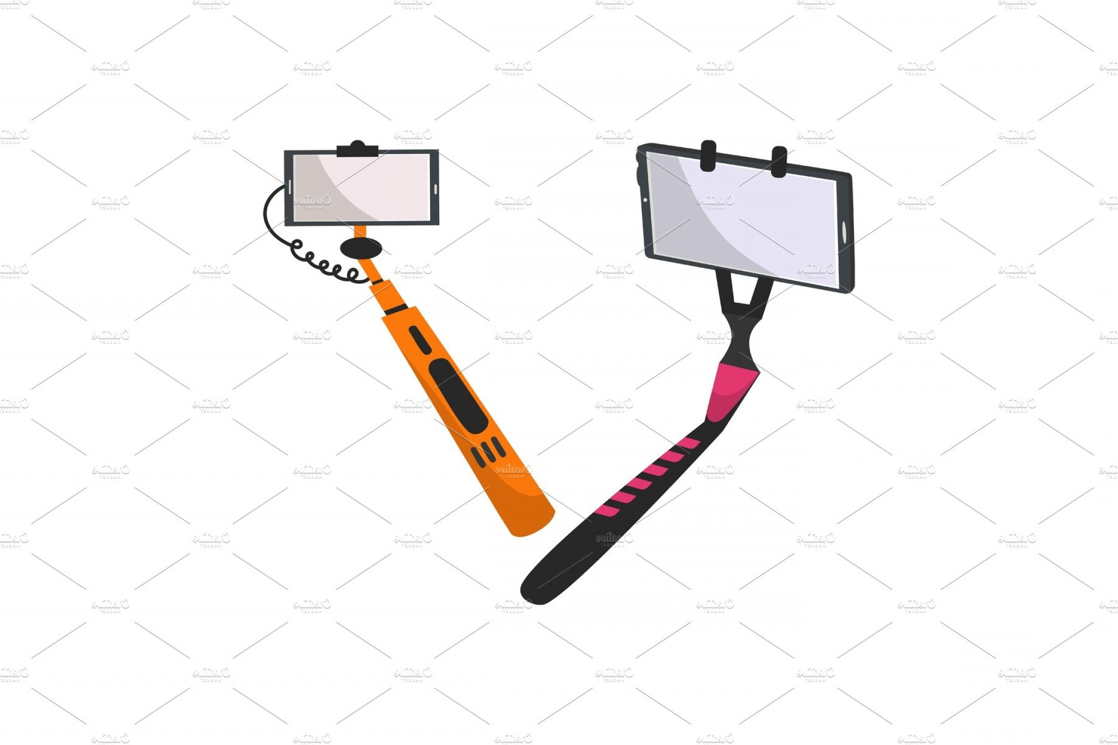 Selfie stick clipart jpeg svg library Selfie Stick Vector Monopod With | SOIDERGI svg library