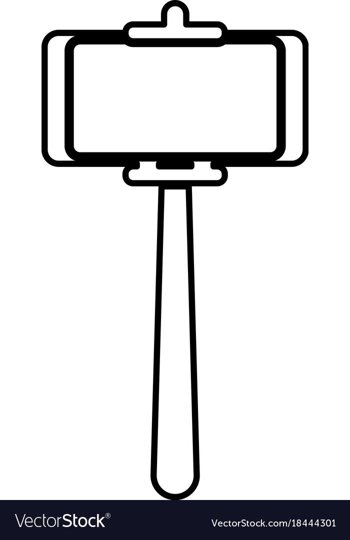 Selfie stick clipart jpeg svg download Stick holder for selfie black icon svg download