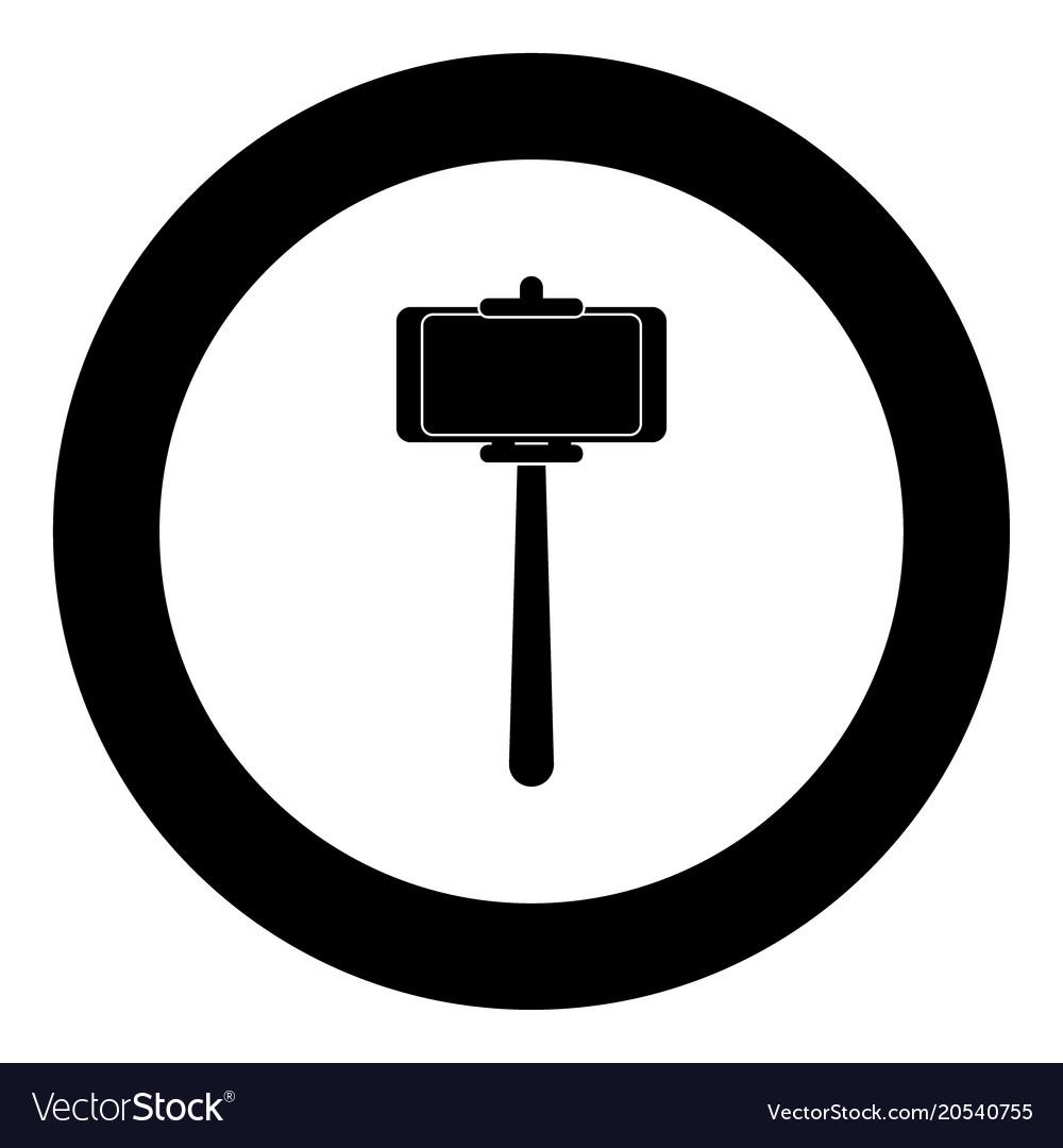 Selfie stick clipart jpeg image freeuse download Stick holder for selfie black icon in circle image freeuse download